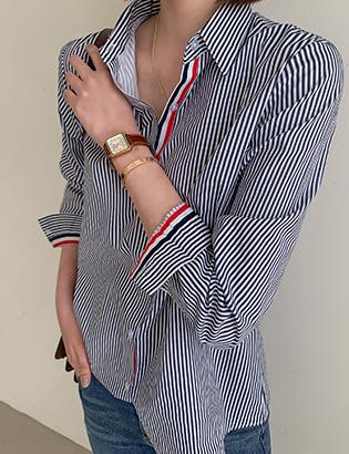 狮子座胶带衬衫C021718